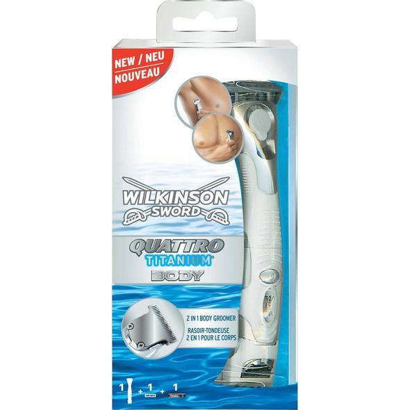 Wilkinson Quattro Titanium Body holiaci strojček