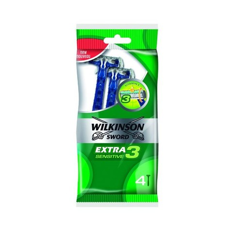 Wilkinson Extra3 Sensitive žiletky 4 ks