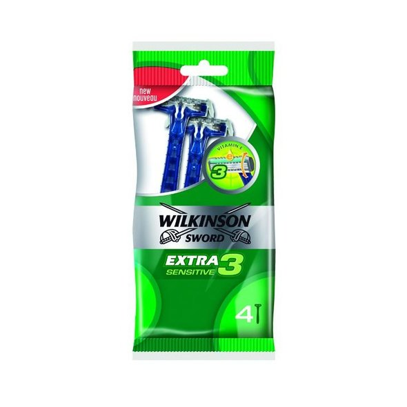 Wilkinson Extra3 Sensitive žiletky 4 ks