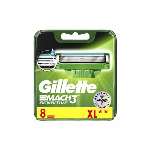 Gillette Mach3 Sensitive náhradné hlavice 8 ks