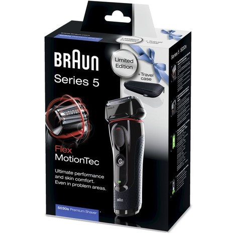 Braun Series 5-5030s Flex MotionTec holiaci strojček + cestovné púzdro - ROZBALENÝ