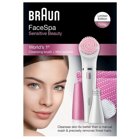 Braun FaceSpa 832s epilátor na tvár Sensitive Beauty