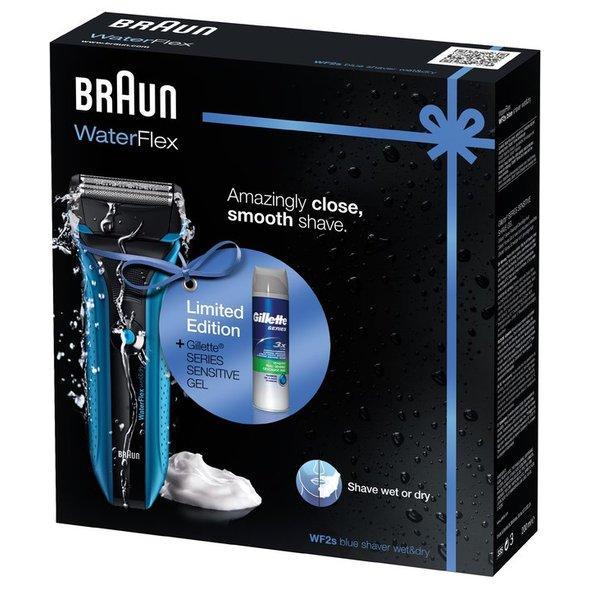 Braun WaterFlex WF2s holiaci strojček Wet&Dry POUŽITÝ + gél na holenie
