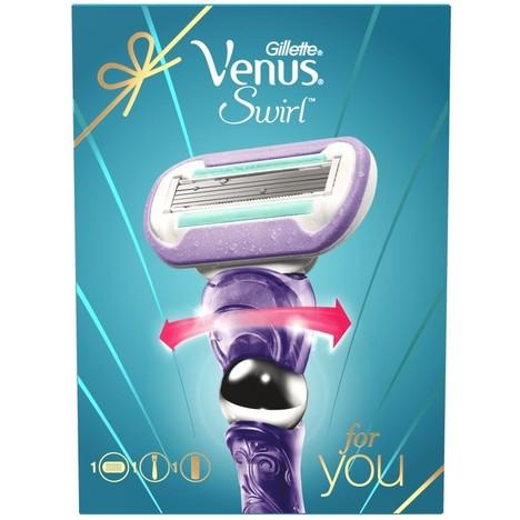 Gillette Venus Swirl Flexiball holiaci strojček + gél na holenie Sensitive Skin 75 ml