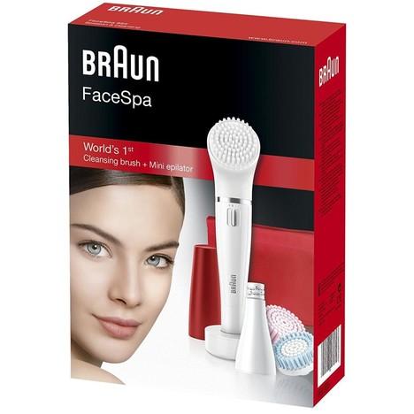 Braun FaceSpa 852 epilátor a čistiaca kefka na tvár