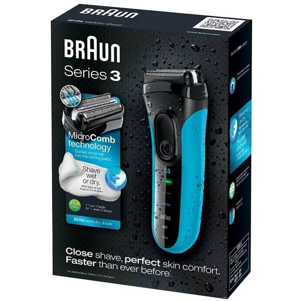 Braun Series 3 3010s Wet&Dry holiaci strojček - ROZBALENÝ