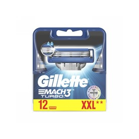 Gillette Mach3 Turbo náhradné hlavice 12ks