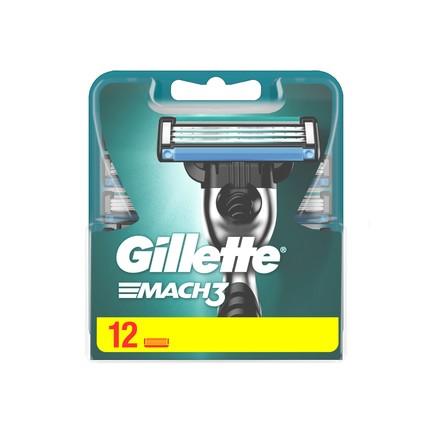Gillette Mach3 náhradné hlavice 12 ks