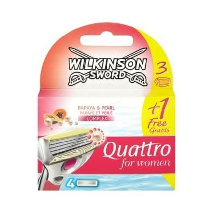 Wilkinson Quattro for Women Papaya&Pearl náhradné hlavice 4 ks