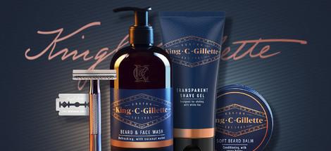 Predstavujeme produkty King C. Gillette