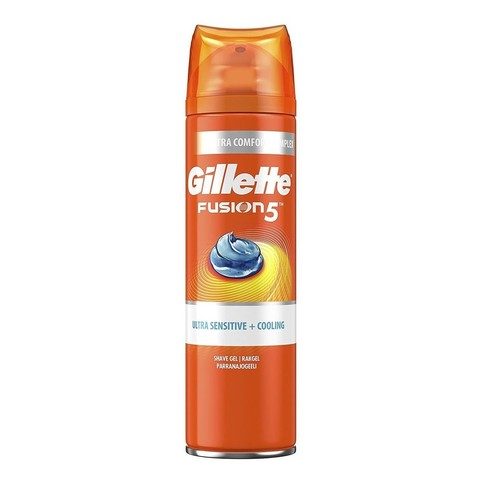 Gillette Fusion 5 Ultra Sensitive&Cooling gél na holenie 200 ml