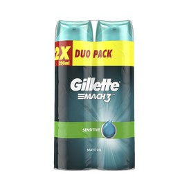 Gillette Mach 3 Sensitive gél na holenie 2×200 ml