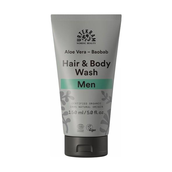 Urtekram Men Hair&Body Wash spchový gél a šampon 150 ml