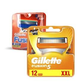 Gillette Fusion Manual náhradné hlavice 12 ks + 4 ks