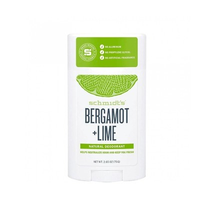 Schmidt's Bergamot + Lime tuhý dezodorant 58 ml