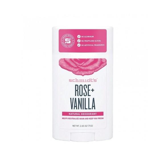 Schmidt's Rose + Vanilla tuhý dezodorant 58 ml