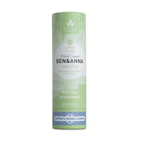 Ben & Anna Sensitive Lemon&Lime tuhý dezodorant 60 g