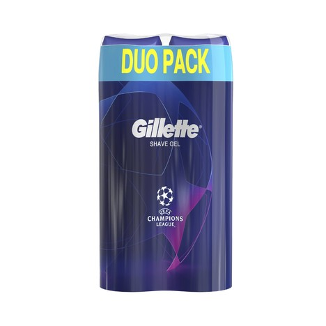 Gillette Gel Fusion Ultra Sensitive gél na holenie 2 × 200 ml