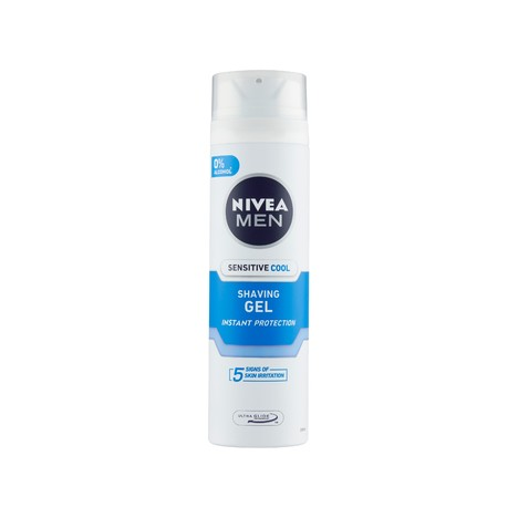 Nivea Men Sensitive Cool gél na holenie 200 ml