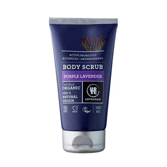 Urtekram Body Scrub Purple Lavender telový peeling 150 ml