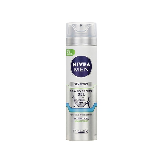 Nivea Men Sensitive 3-Day Beard gél na holenie 200 ml