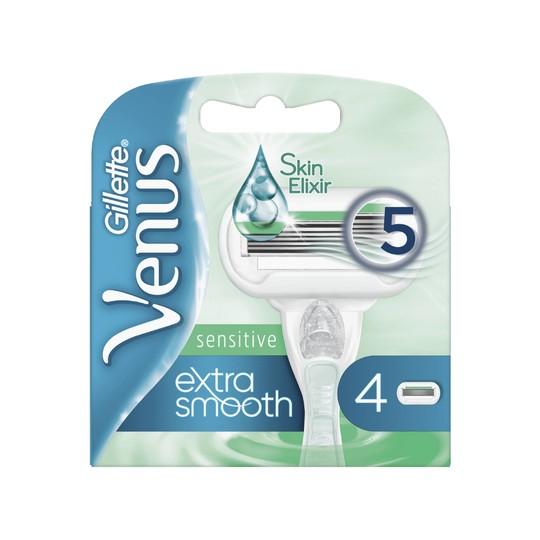 Gillette Venus Extra Smooth Sensitive náhradné hlavice 4 ks